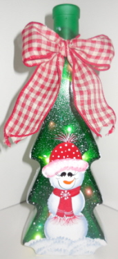 Green Christmas Tree Bottle