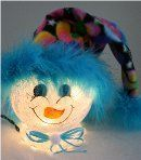 Clown Snowman Nightlight with Bright Colored Fleece Hat