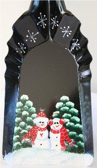 Snowmen Handpainted on Coal Shovel